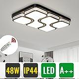 HG® LED Deckenleuchte 48W Esszimmer Geschäft Deckenbeleuchtung Dimmbar Flurleuchte