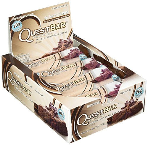 Quest Nutrition Protein Bar Double Chocolate Chunk 12 x 60 g, 1er Pack (1 x 720 g)
