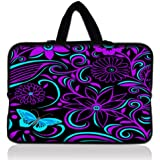 Purple-black design Laptop Netbook Tablet Maletin con asa plegable para iPad 2 3 Asus EeePC 10 trans