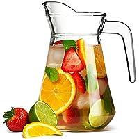 bar@drinkstuff City Glass Pitcher 51oz/1.45ltr - Glass Cocktail Jug from