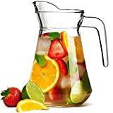 bar@drinkstuff City Glass Pitcher 51oz/1.45ltr - Glass Cocktail Jug from