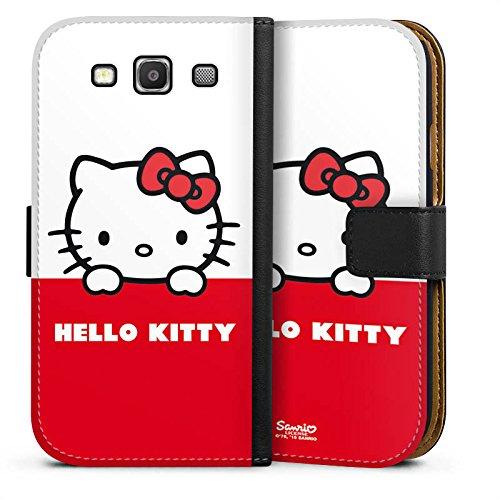 DeinDesign Tasche kompatibel mit Samsung Galaxy S3 Neo Leder Flip Case Ledertasche Hello Kitty Merchandise Fanartikel Kawaii