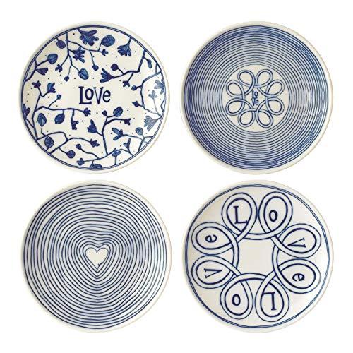 Royal Doulton Teller 16cm Love Set/4, Porzellan, Blau, 19,3x 6,5x 19cm Royal Doulton Bone China
