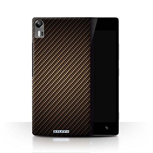 Stuff4® Hülle/Hülle für Lenovo Vibe Shot/Z90 / Gold Muster/Kohlenstoff-Faser-Muster Kollektion