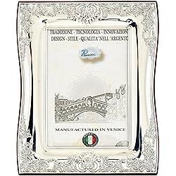 BAROCCO Marcos de Fotos Marcos de Plata Hechos a Mano Plata Made in Italy Foto 13x18 cm