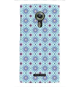Fuson Premium Floral Vector Design Printed Hard Plastic Back Case Cover for Alcatel Flash 2