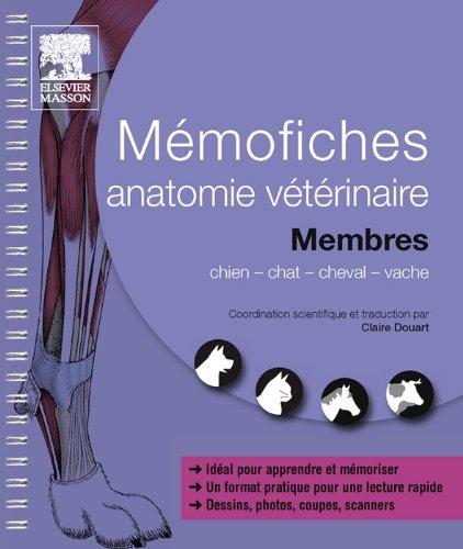 Mémofiches anatomie vétérinaire - Membres