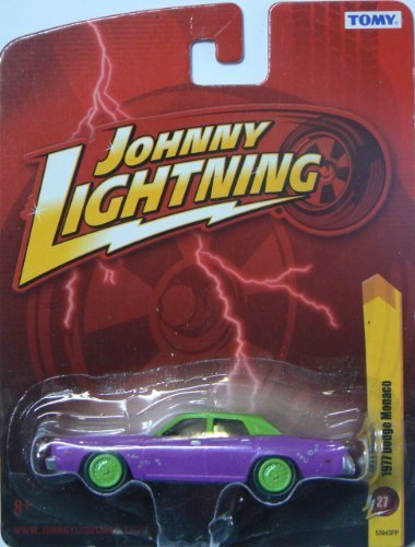 1977 Dodge Monaco Purple & Green Diecast 1:64 Scale Car by Johnny Lightning (Johnny Cars Lightning Diecast)