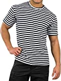 Cuello redondo Russisches Marine T-camiseta S-XXXL azul, blanco Talla:small
