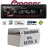 Opel Astra G - Autoradio Radio Pioneer MVH-S100UI - | MP3 | USB | Android | iPhone Einbauzubehör - Einbauset