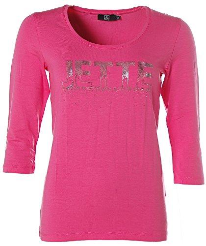 Jette Damen Shirt Strass Glitzer 3/4-Arm Pink