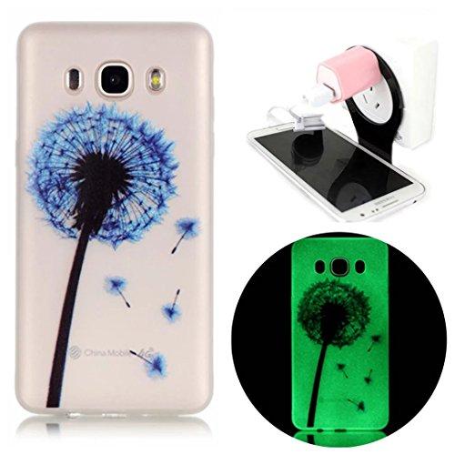 Samsung Galaxy J7 (2016 Version) Coque Gel TPU Silicone Etui Intégrale Transparent Case pour Samsung Galaxy J7 (2016 Version) Housse Protection Full Silicone Souple Case, Vandot Samsung Galaxy J7 (201 Night-pissenlit
