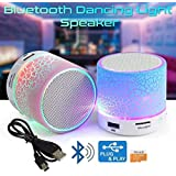OxyUV Compatible Certified Rechargeable Bluetooth Speaker With Led Wireless Audio Receiver Outdoor, Home Theater Portable Usb Mp3 Player Stereo Surround Loud Mini Radio Bluetooth Speaker Speakers With Light(Assorted Color)