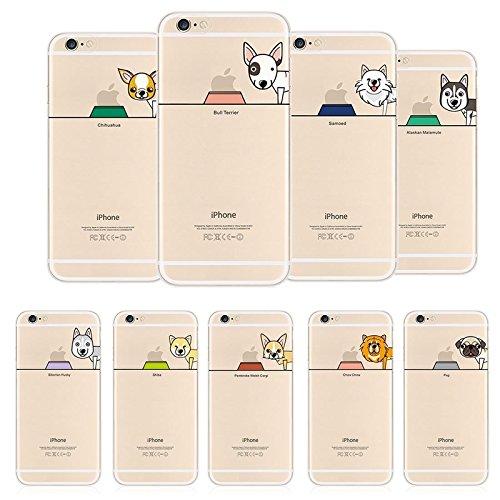 Hartschale Hochwertiger iPhone 6/6S–Hund Dog Pug Chihuahua Bull witziges Design Swag Motiv Design Case + mit Displayschutzfolie pug