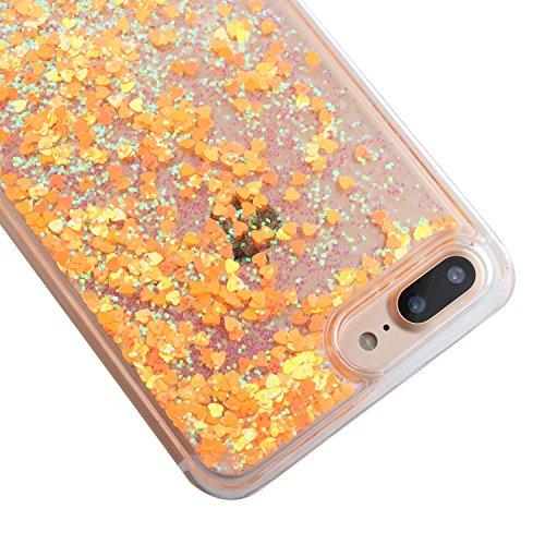 TOYYM - Cover per iPhone 7Plus 5,5, trasparente con brillantini e liquido, include 1 pellicola protettiva e 1pennino capacitivo, plastica, Color 27#, Apple iPhone 7 Plus 5.5 Color 25#