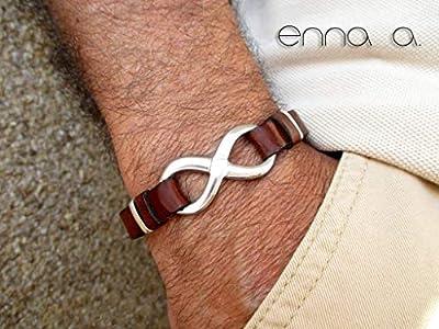 Bracelet infini cuir, accessoires homme, bracelet pour homme, cadeau d'anniversaire, cadeau de mari, bracelet cuir, bracelet d'anniversaire