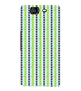 EPICCASE trendy hearts Mobile Back Case Cover For Micromax Canvas Knight A350 (Designer Case)