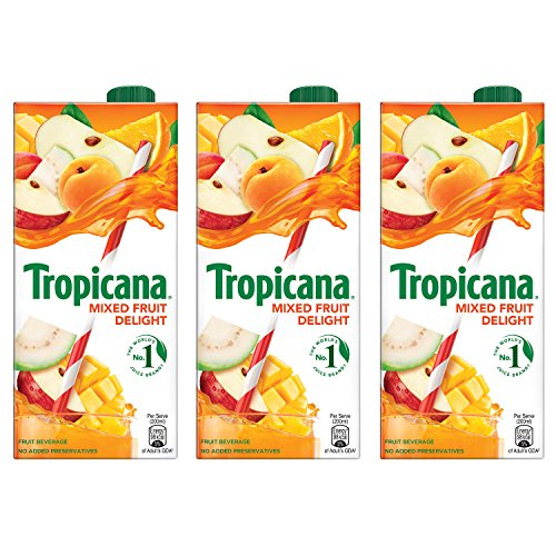 Tropicana Mixed Fruit Delight Fruit Juice, 1L (Pack of 3)