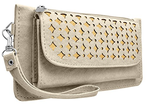 Tap Fashion Fancy Stylish Elegance Fashion Synthetic Warm Grey Handmade Wallet/ Clutch/ Purse for Girls and Women.  available at amazon for Rs.298