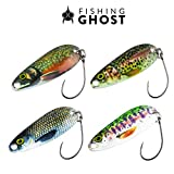 FISHINGGHOST Forellen Spoon Set REALLYone, 3,2gr, 3,5cm Forellenköder, Forellenspoons,...
