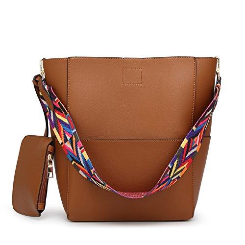 Mefly Benna Pack Fashion Borsa A Tracolla Con Grande Capacità Brown brown