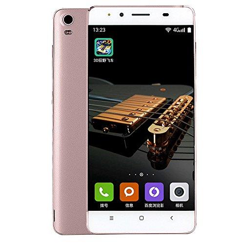 MYQyiyi Smartphone Libre Android 6.0,Teléfonos Móviles Libres Dual SIM Tarjetas (Oro Rosa)
