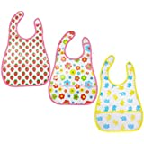 My Newborn Baby Waterproof Aprons Bibs With Pocket Pack Of 3 Pcs
