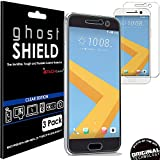 TECHGEAR® [3 Pack] Protection Écran pour HTC 10 [ghostSHIELD] Film de Protection Souple en TPU avec Protection Totale de l'Écran Compatible pour HTC 10 [Protection 3D Bords Incurvés]