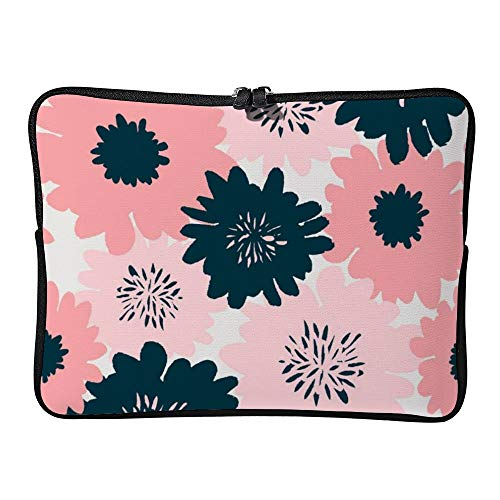 DKISEE Abstract Floral Pattern Laptop Sleeve Case Bag Cover Compatible 17 inches Notebook MacBook Air MacBook Pro - Cover Hp-laptop-disney