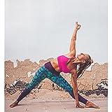 FLIKEFASHION Yoga Sports Leggings Sporthose für Damen Lange Fitnesshose Blickdicht Dehnbar Luftig Bunte Trainingshose
