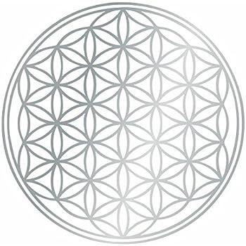 Kiwistar Fleur Arbre De Vie Sticker Mural Gris Argente 30 X 30 Cm