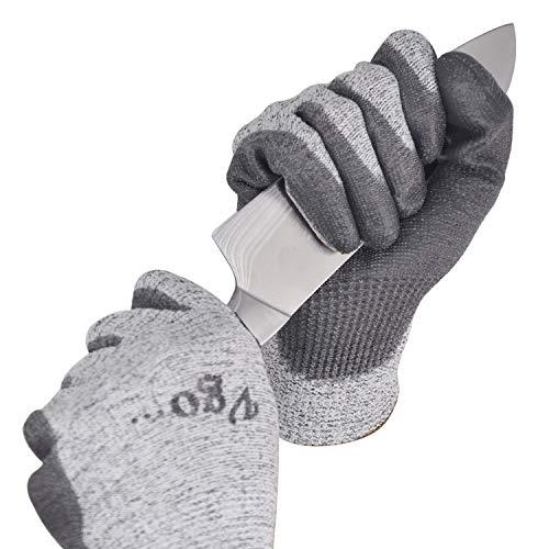 Vgo Glove Guanti 2 paia guanti da lavoro guanti da giardinaggio guanti da cucina resistenti al taglio protezione di livello 5 certificato EN388