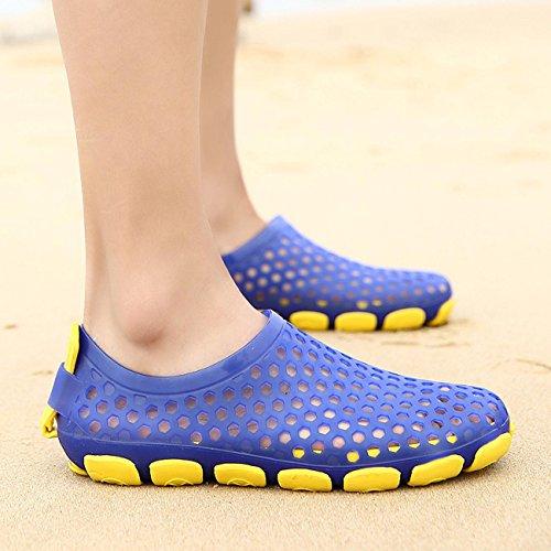 GAOJIAN Sommer Sandalen Mesh Männer und Frauen Hausschuhe Neue Vogel Nester Garn Schuhe Sandalen Schuhe Füße Halbe Hausschuhe 42
