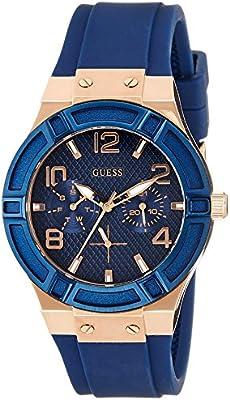 Guess W0571L1 - Reloj de pulsera Mujer, Silicona, color Azul
