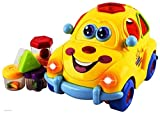 #9: Smartcraft Premium Musical Car Toy with Lights and Sounds, Fruit Shape Sorters Activity,Safe Sturdy Educational Toy for Toddlers 18 Months +