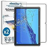 ebestStar - Compatible Pack x2 Verre trempé Huawei MediaPad T5 10.1 Film Protection Ecran Vitre Protecteur Anti Casse, Anti-Rayure, Pose sans Bulles [Tab: 243 x 164 x 7.8mm, 10.1'']