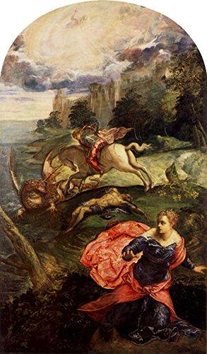 Das Museum Outlet-St. George und der Drache von Tintoretto-Poster (61x 45,7cm)