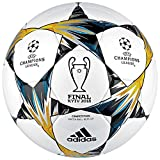 ADIDAS Finale Kiev Competion Ball Fußball, White/Black/SYELLO/Bl, 5