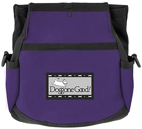 Rapid Rewards Deluxe Dog Training Bag by Doggone Good! (Purple) COMES WITH BELT