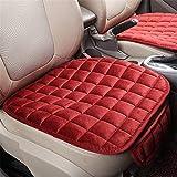 QHLJX 2 PCS Cuscino del Sedile Auto, Pelle Traspirante Universale Antiscivolo Coprisedile per Auto Pad Mat Cuscino del Sedile Auto, Morbido Confortevole, Quattro Stagioni Generale