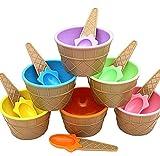 Amcool 6 Stück Kinder Niedlich Bun te Eis-Schalen Eisbecher Geschenke Dessert Schalen