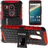 G-Shield Hülle für Google Nexus 5X Stoßfest Schutzhülle mit Ständer - Rot
