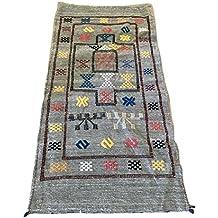 Alfombras etnicas gris - Amazon alfombras pasillo ...