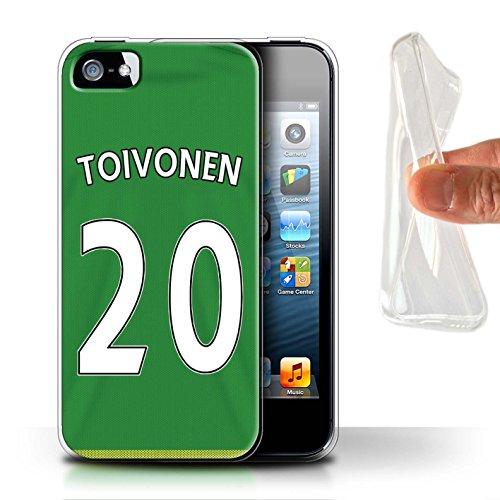 Offiziell Sunderland AFC Hülle / Gel TPU Case für Apple iPhone 5/5S / Pack 24pcs Muster / SAFC Trikot Away 15/16 Kollektion Toivonen