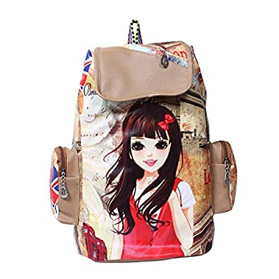 Gracetop Women'S Leather Messenger Backpack Bag