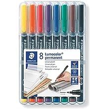 Staedtler 318 WP8 Lumocolor Universal Permanent Fine Pens - Multicolour