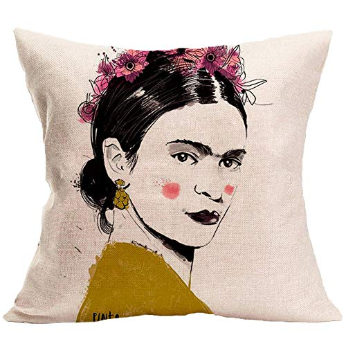 Encounter G 3 Pièces Libre de Choisir n'importe Quel Modèle Frida Carlo Peinture Coussins de tête Lin Lin Maison Canapé Voiture Taie d'oreiller 45X45CM,H7,45X45CM(Setof3)