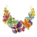 Butler and Wilson - Collar Grande de Cristal con diseño de Mariposas y Flores