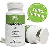 Triptófano con Melatonina y Espirulina | 70 Comprimidos | Fórmula...