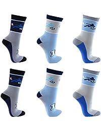 C&C KIDS Kinder Socken 6 Paar Jungen oder Mädchen handgekettelt Spitze weiche Naht